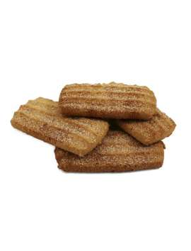 Curly Cookies with sugar cane and fine cinnamon